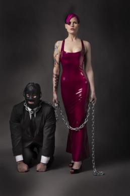 Mistress Natalie Kinky with the slave